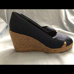 White Mountain Shoes - White Mountain Navy Matador Wedge Shoes
